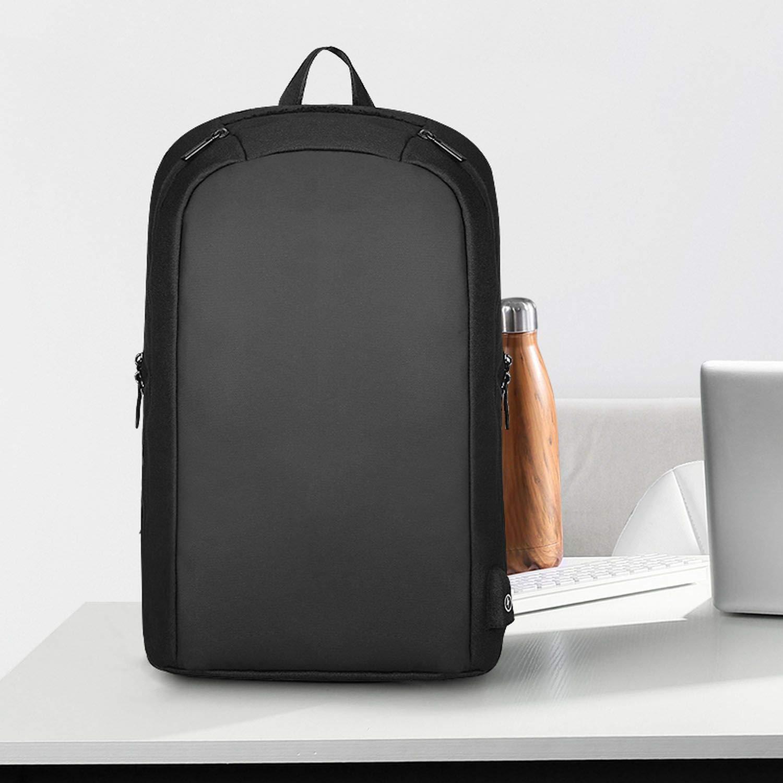 Men Backpack Multifunction USB Recharging Casual Backpacks for Male,Black