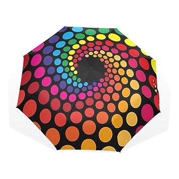 Enne paraguas lunares plegable compacta paraguas lluvia paraguas de viaje viento 8 costillas UV Protección