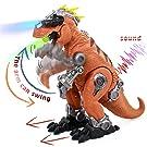 jerryvon Tyrannosaurus Rex Walking Dinosaurs Light Up Roaring Mechanics Simulation Dinosaurs Toys for Children Boys 3 4 5 Years Old