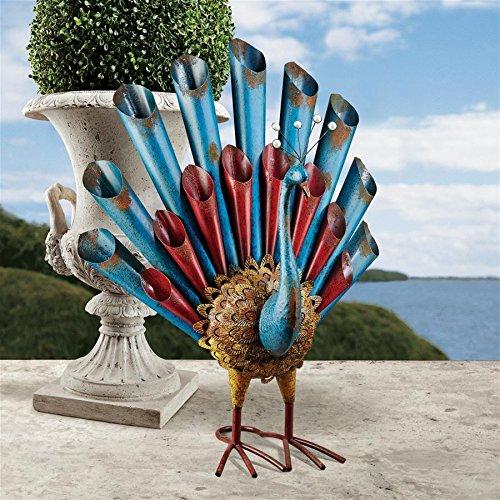 Peacock's Posture Metal Garden Statue