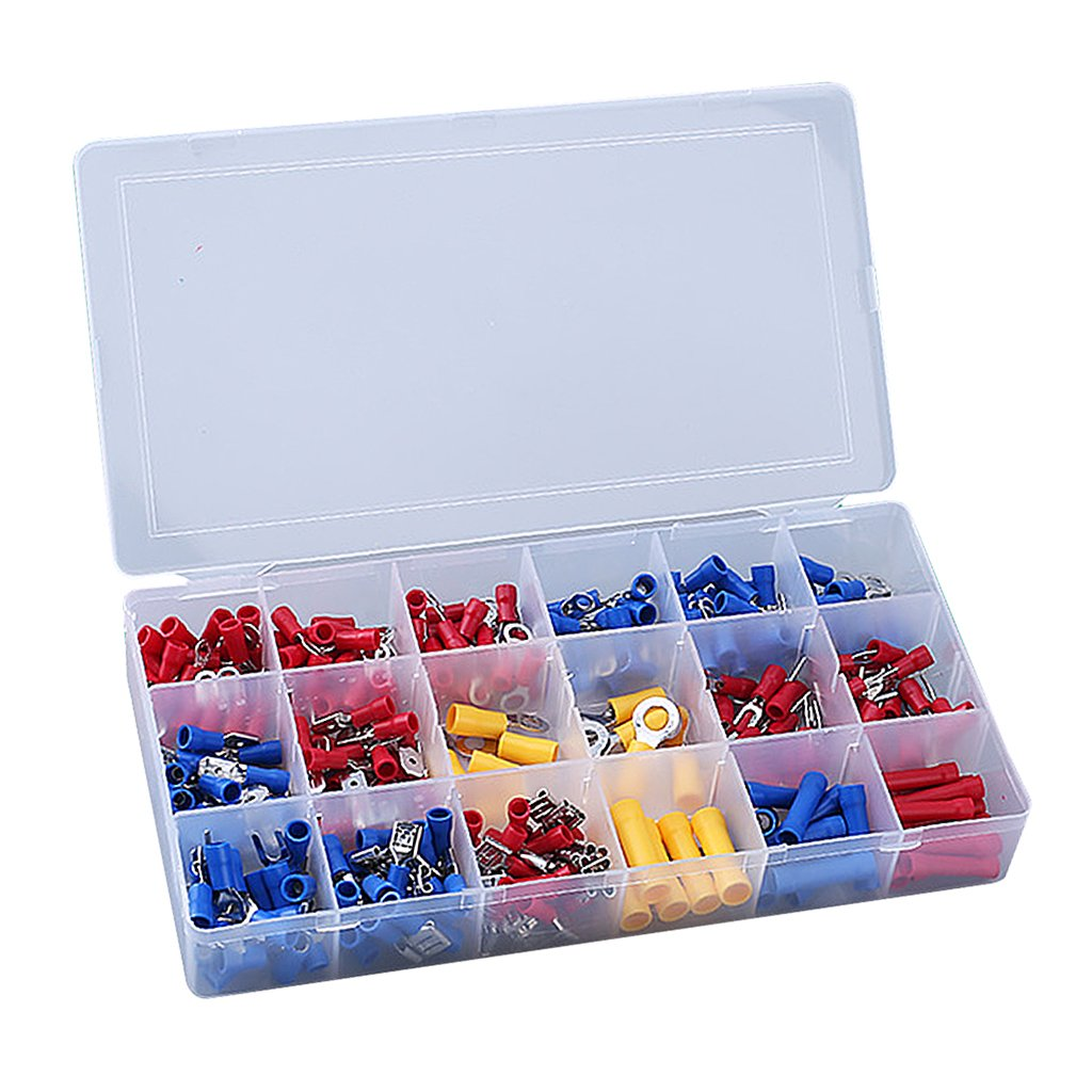 Dovewill 300 Piece Steel ABS Insulated Crimp Terminals Connectors Kit 210x103x29mm
