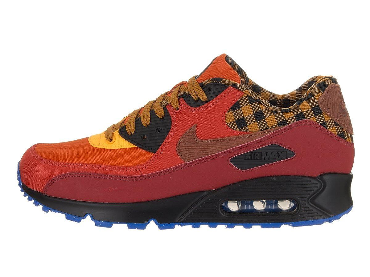 Nike Mens Air Max 90 Premium Dark Cayenne//Cognac Gold Suede Running Shoe 11.5 Men US