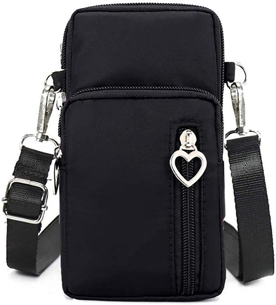 Horscrite Phone Bag Purse Wallet Crossbody Bag Lightweight Roomy Pockets Smartphone Sports Armband Bag For Men and Women