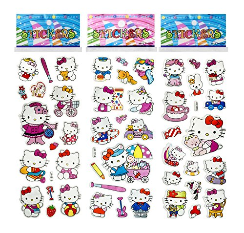 3-sheets-puffy-dimensional-scrapbooking-party-stickers-free-usa-shipping-hello-kitty