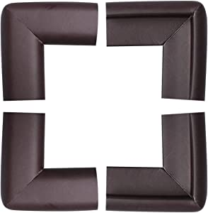 uxcell 4 Pack Foam Furniture Table Desk Edge Cover Pads Protectors Corner Cushions Bumper Guards Brown