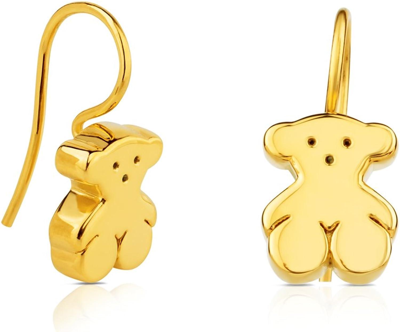 Pendientes TOUS Sweet Dolls de oro amarillo de 18 kt, Cierre gancho