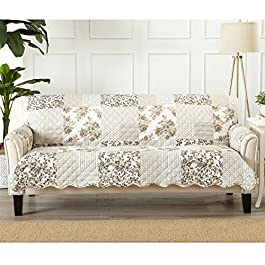 Great Bay Home Patchwork Scalloped Stain Resistant...