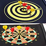 Ezyoutdoor 12 inches Double Sided Hanging Magnetic Traditional Dart Board 2 Targets with 4 Magnetic Darts Indoor Portable Travel Fun Gift For Children Adult Game