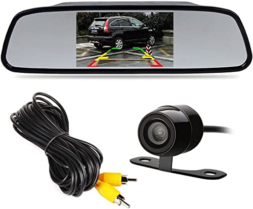 4.3 TFT LCD Car Rear View Mirror Monitor Kit Waterproof Mini Backup Reverse Reversing Camera 170 For Car Vehicle