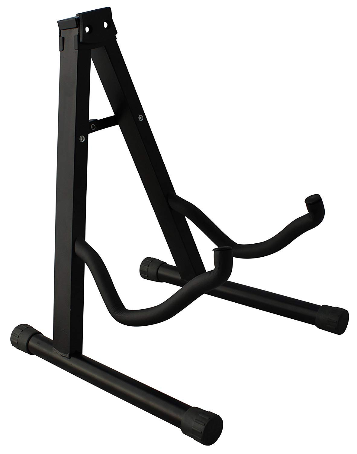 CAIHONG Guitar Stand Folding Universal A frame Stand for All Guitars Acoustic Classic Electric Bass Travel Guitar Stand - Black