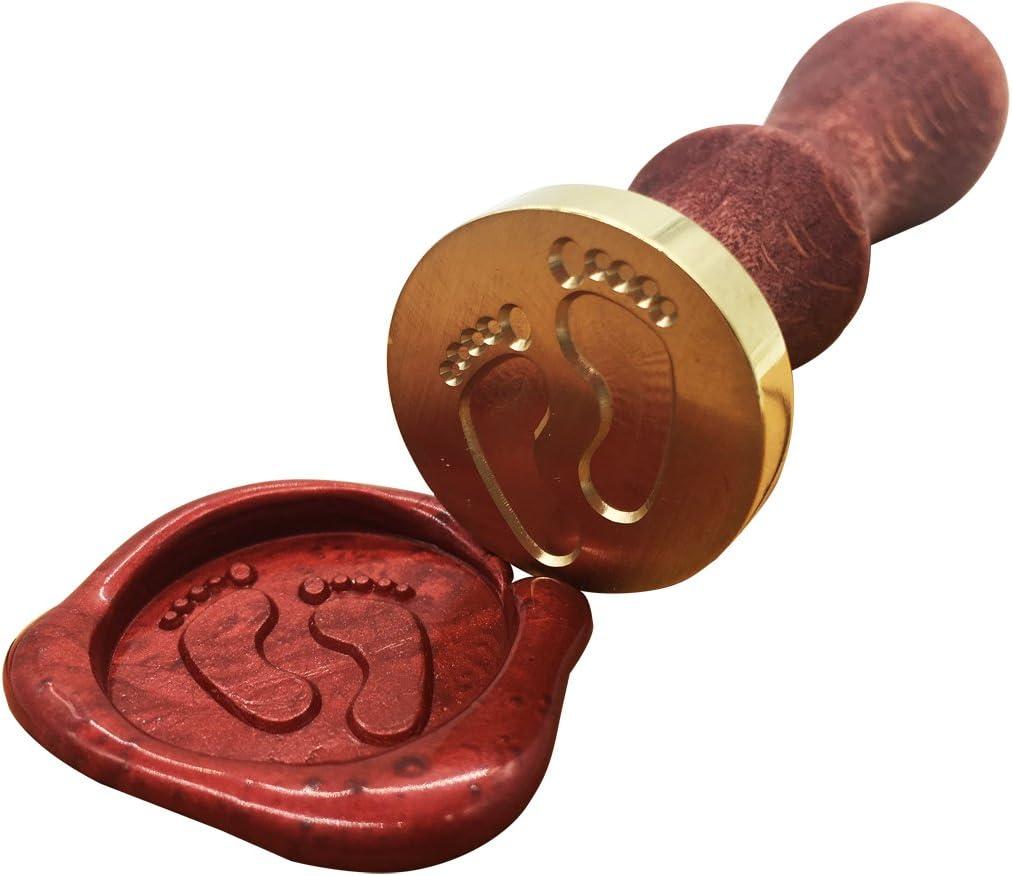 romantisches Symbol f/ür Hochzeitseinladungen Vintage klassischer Stil Retro Bastelzubeh/ör Wachssiegel Siegelstempel Metall Gold-Best Wishes