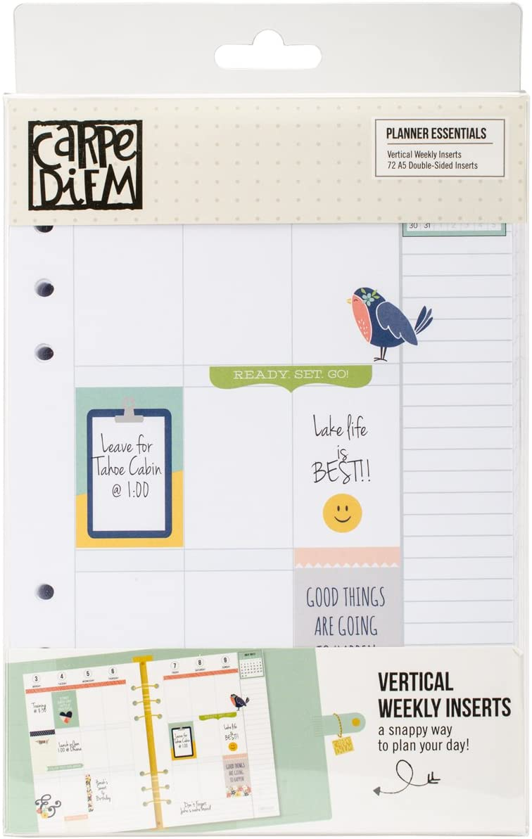 Inserts Monthly Pages /& Dividers Essential Carpe Diem A5 Planner