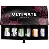 Essential Oils by Ultimate Aroma 100% Pure Therapeutic Grade Oils kit- Top 6 Aromatherapy Oils Gift Set-6 10ML…