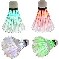 Led Badminton Kleurrijke Ganzenveren Shuttle Dark Night Glow Birdies Verlichting Outdoor Indoor Sports Activiteiten 4…