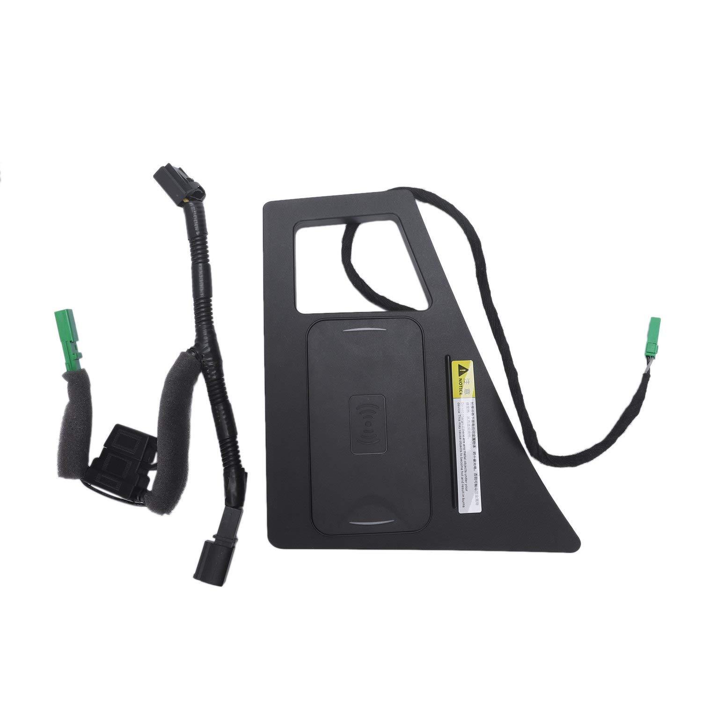 TOOGOO Car Mobile Phone Qi Charging Pad Module Console Storage Box for Q7 2016-2019 Car Accessories