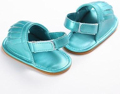 fdec295d zapatos bebe primeros pasos, Switchali Recién nacido bebe niña verano borla  Suela blanda princesa Zapatillas ninos vestir casual Sandalias zapatos ...