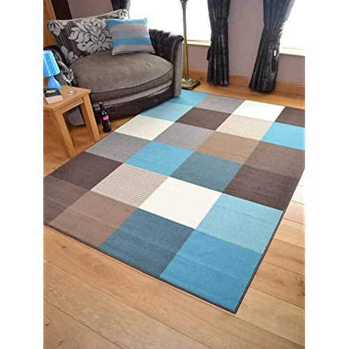 Teal Rugs For Living Room: Amazon.co.uk