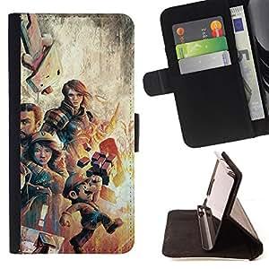 BullDog Case - FOR/Samsung Galaxy S3 III I9300 / - / Gaming Characters Poster - Mari0 /- Monedero de cuero de la PU Llevar cubierta de la caja con el ID Credit Card Slots Flip funda de cuer