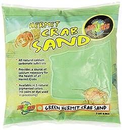2-Pound, Hermit Crab Calcium Carbonate Sand in Green