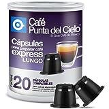 Nespresso Compatible Lungo Espresso Coffee Capsules (Can of 20 Capsules). by Cafe Punta del Cielo
