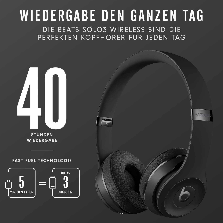 Amazon / Media Markt / Saturn - Beats Solo 3 Kabellose Bluetooth On-Ear Kopfhörer (Apple W1 Chip, 40h Wiedergabe) für nur 99,00€ inkl. Versand
