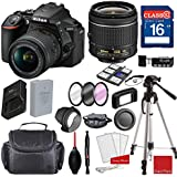 Nikon D5600 DX-format Digital SLR w/AF-P DX NIKKOR 18-55mm f/3.5-5.6G VR Lens, Professional Accessory Bundle (17 Items)