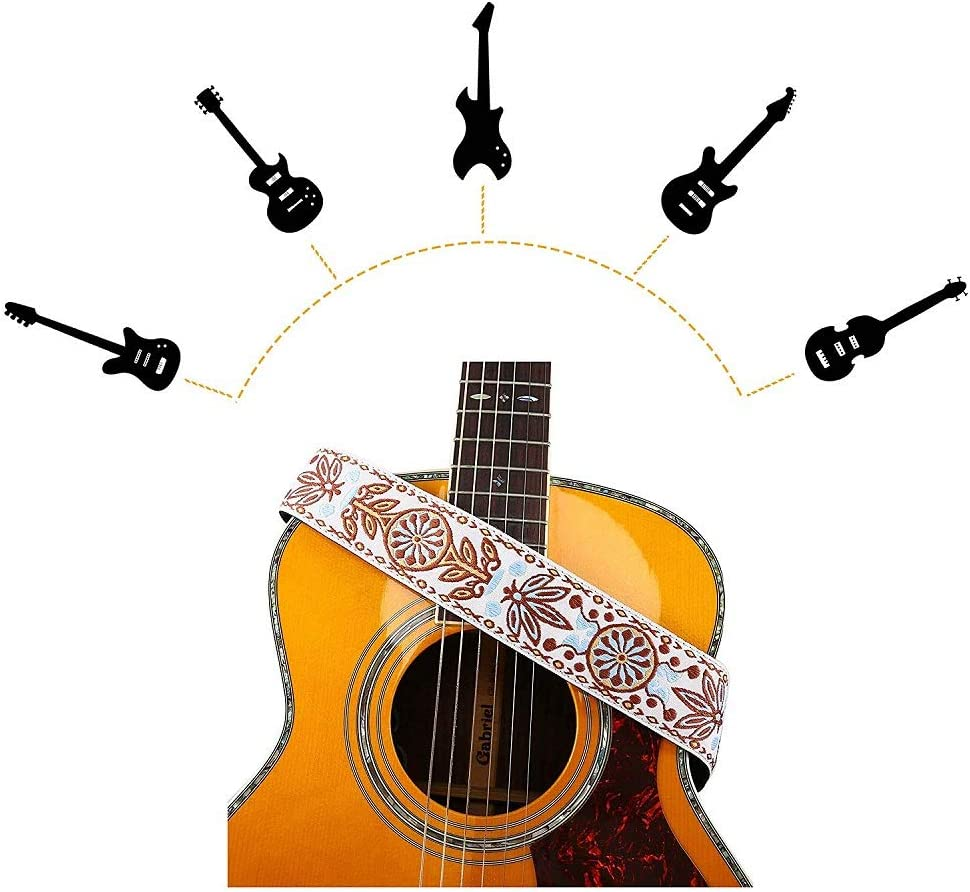 Imelod - Correa para guitarra con soporte para púas (3 piezas ...