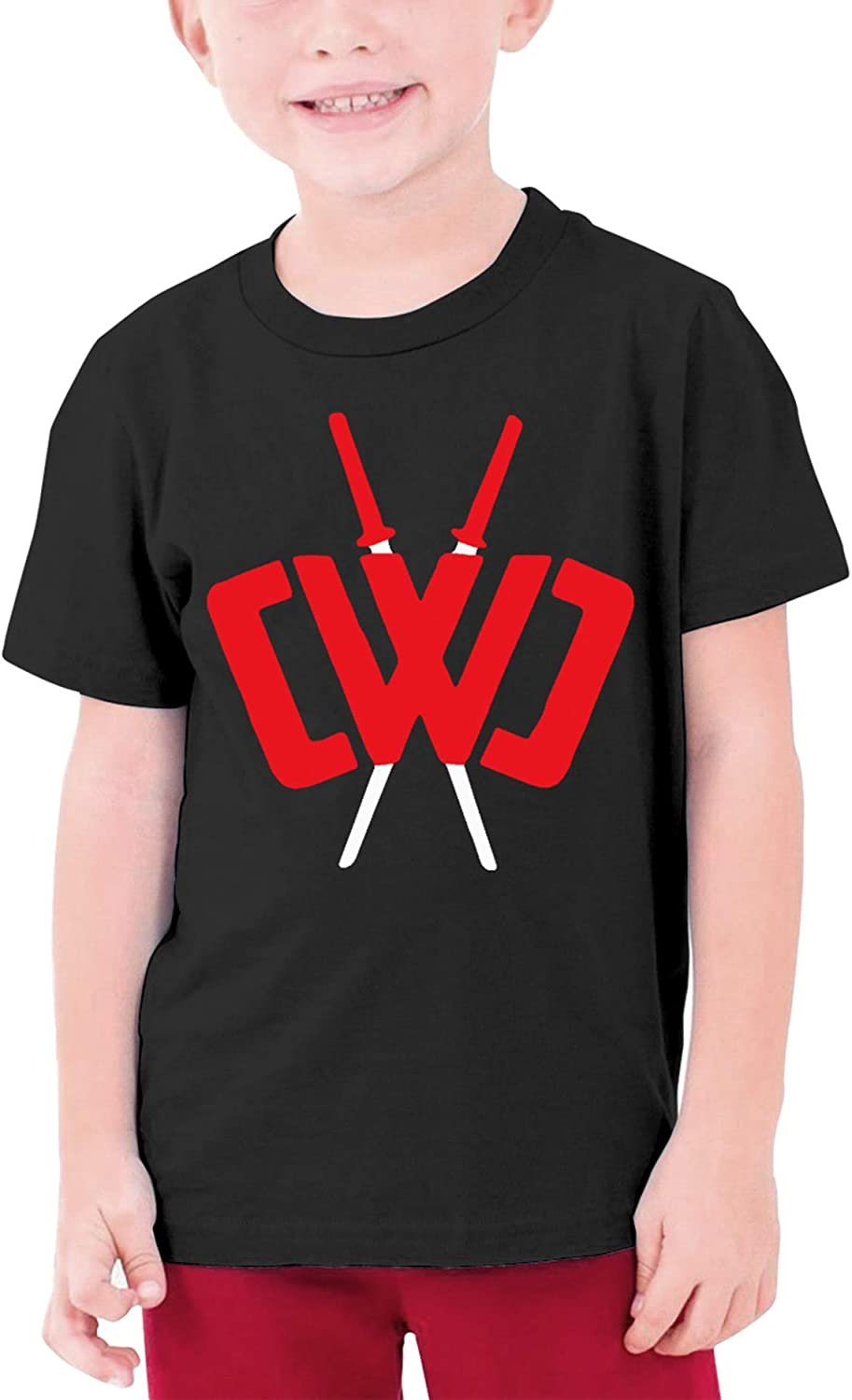 Youth Fashion Chad Wild Clay Custom T-Shirt Boy Girl Colorful Tops (Black,S)