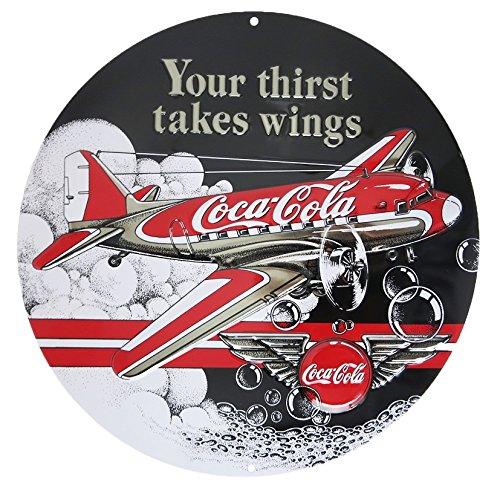 (Coke Die-Cut Tin Sign 14 x 14in)