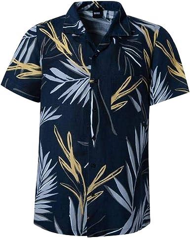 Boss Regular Fit Camisa de algodón con diseño de hojas 404: Amazon.es: Ropa y accesorios