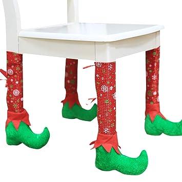 Weihnachtsdeko Stuhl.Amazon De Feoya Weihnachtsdeko Weihnachten Schmuck Stuhl Bein Fuß