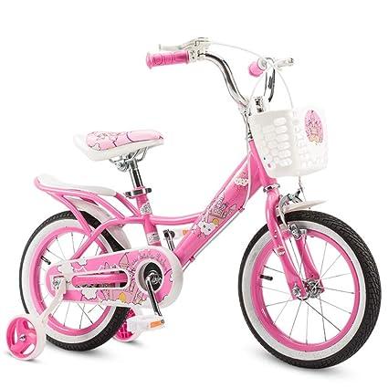 Bicicleta de equilibrio Bicicleta para niños Bicicleta para niña estilo princesa rosa con ruedas de entrenamiento