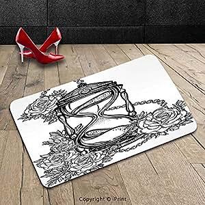 Custom se puede lavar a máquina Felpudo diseño de Decor japonés paisaje de Shine sol olas con rojo y rosa de espuma rojo azul y amarillo para interiores/al aire libre Felpudo alfombra alfombra alfombra