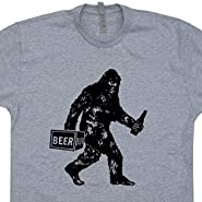 Big-Drunk Bigfoot T Shirt Funny Sasquatch Bigfoot Drinking Beer T Shirt Shirtmandude T Shirts