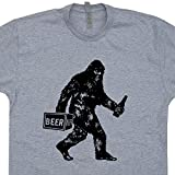 XL - Bigdrunk Bigfoot T Shirts Funny Sasquatch Shirt Drinking Beer Alcohol Tshirt Cryptozoology Absinthe Tequila