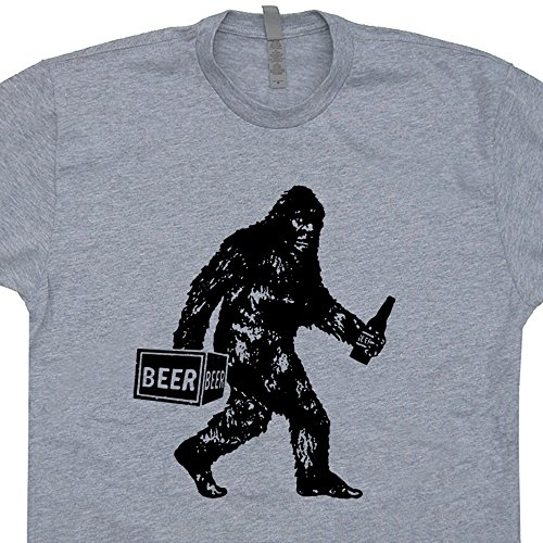 Big-Drunk Bigfoot T Shirt Funny Sasquatch Shirts Yeti Drinking Beer Dive Bar Drink Local Cool Vintage Pub Tavern