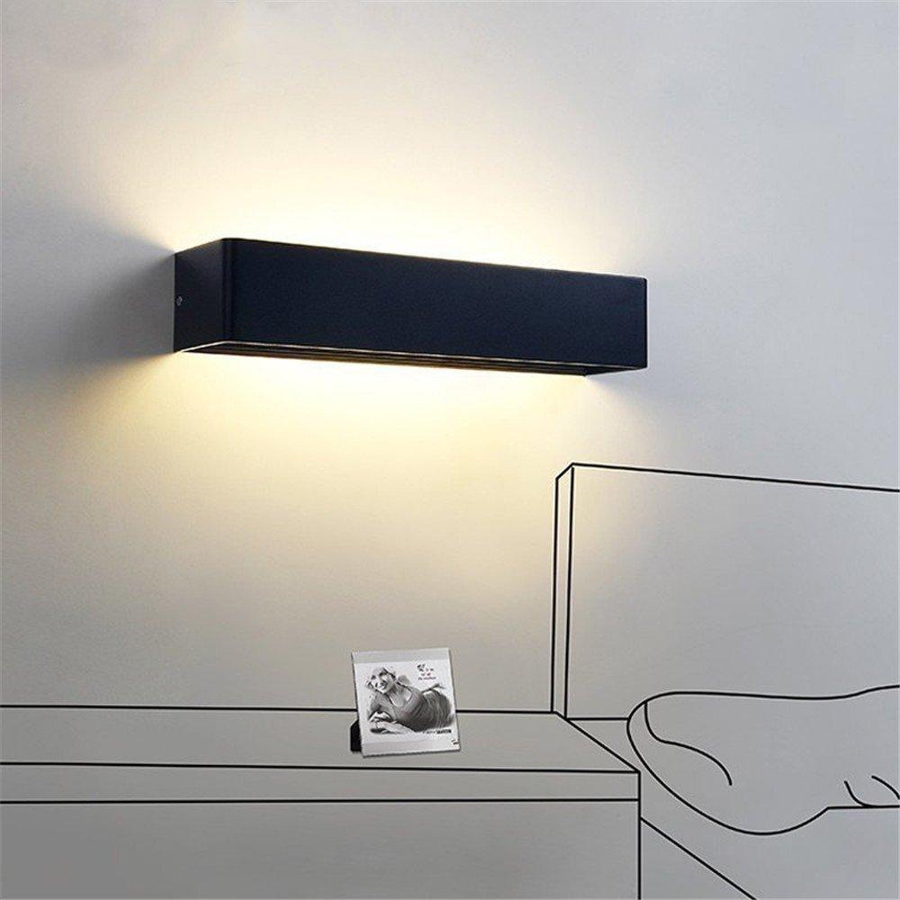 Anbiratlesn Modern E27 Vintage Rustikal Wandlampe für Schlafzimmer Wohnzimmer Korridor Badezimmer Küche rechteckigen Balkon