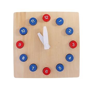 Gazechimp Jeu Educatif Enfants Horloge Pédagogique En Bois Jouet D