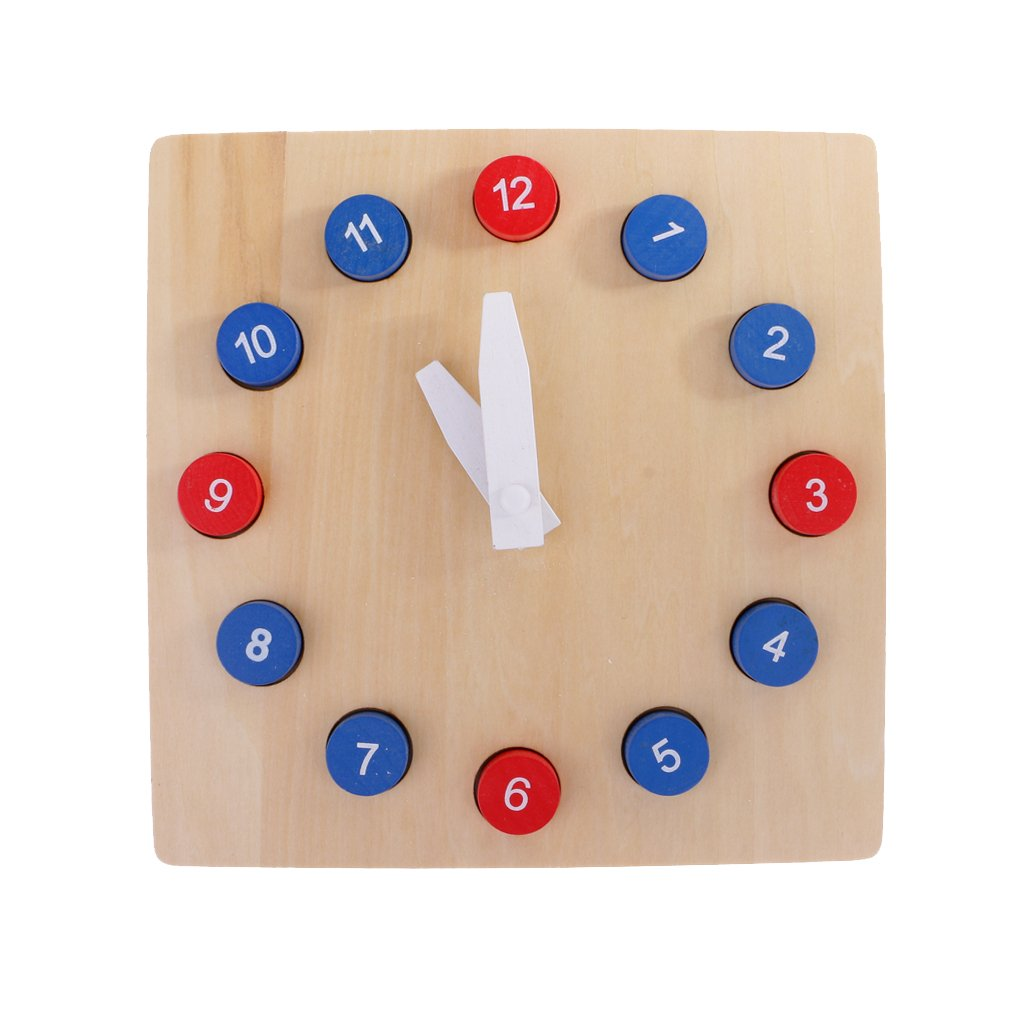 Fityle Kids Wooden Time Teaching Cloth Early Learning Developmental Toy by Fityle (Image #4)
