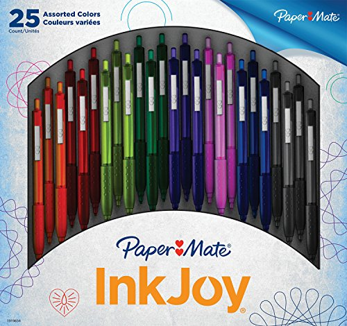 paper-mate-inkjoy-300rt-retractable-ballpoint-pen-medium-point-assorted-colors-25-count