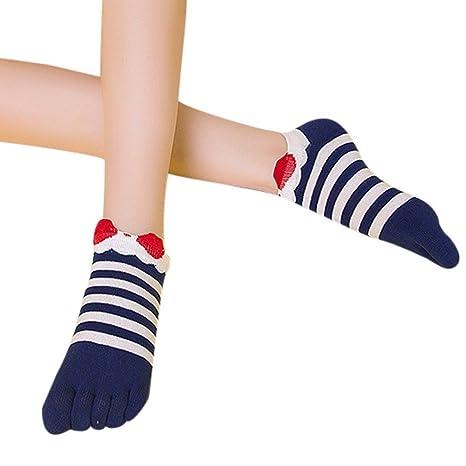 Amazon.com: Invisible Cotton Sock Women Fashion Five Toe Finger Socks Stripe Black Red Navy Cute Socks calcetines Female Winter Autumn Meias: Clothing