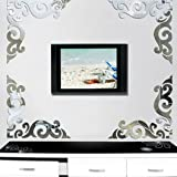 d-c-fix® Decorative Static Reusable Decal - 18 Stickers - Mirror