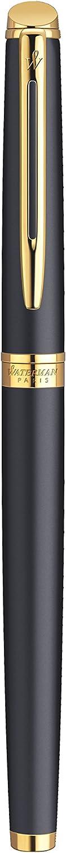 Confezione Regalo Waterman H/émishp/ère Penna Stilografica Inchiostro Blu Pennino Medio Corpo Laccato Colore Rosa Corallo con Finiture Cromate