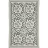 Safavieh Courtyard Collection CY7059-78A18 Light Grey and Anthracite Indoor/Outdoor Area Rug (5'3″ x 7'6″)