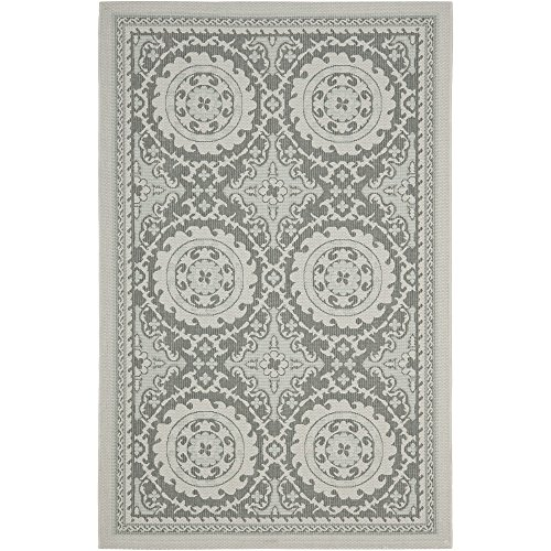 Safavieh Courtyard Collection CY7059-78A18 Light Grey and Anthracite Indoor/Outdoor Area Rug (5'3