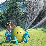 PER Kids Inflatable Water Sprinkler Toy Splash And Spray Ball With 4 Water Spouts Summer Fun Toys For Garden Pool Beach Playing Water-Height 25.98IN Octopus
