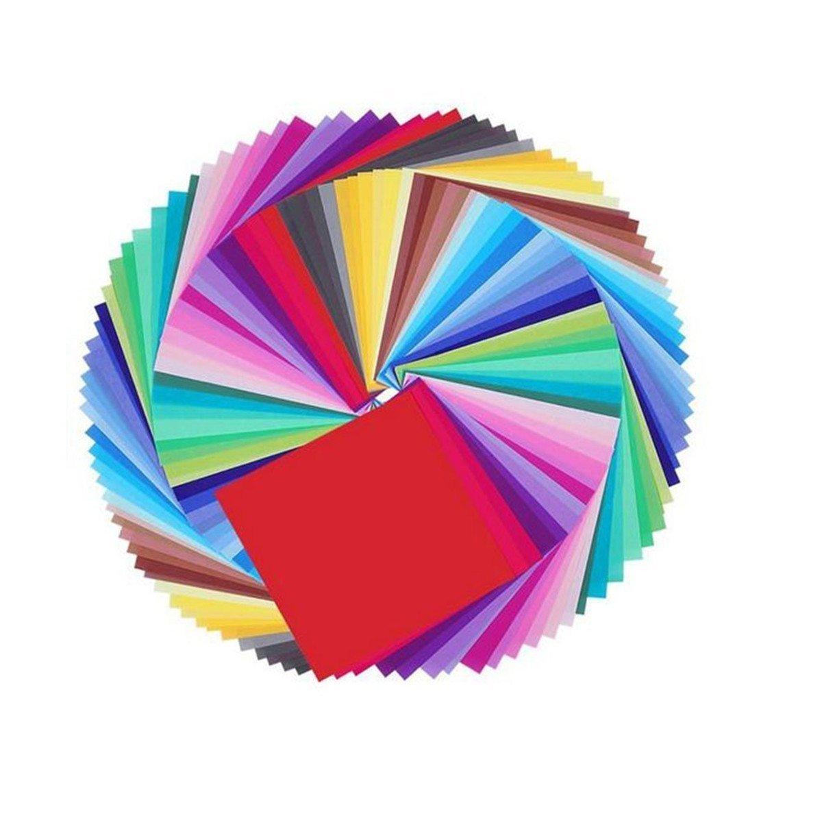 50 fogli di Carta per origami colori assortiti WeiMay Carta per origami 15 x 15cm per progetti artistici e creativi