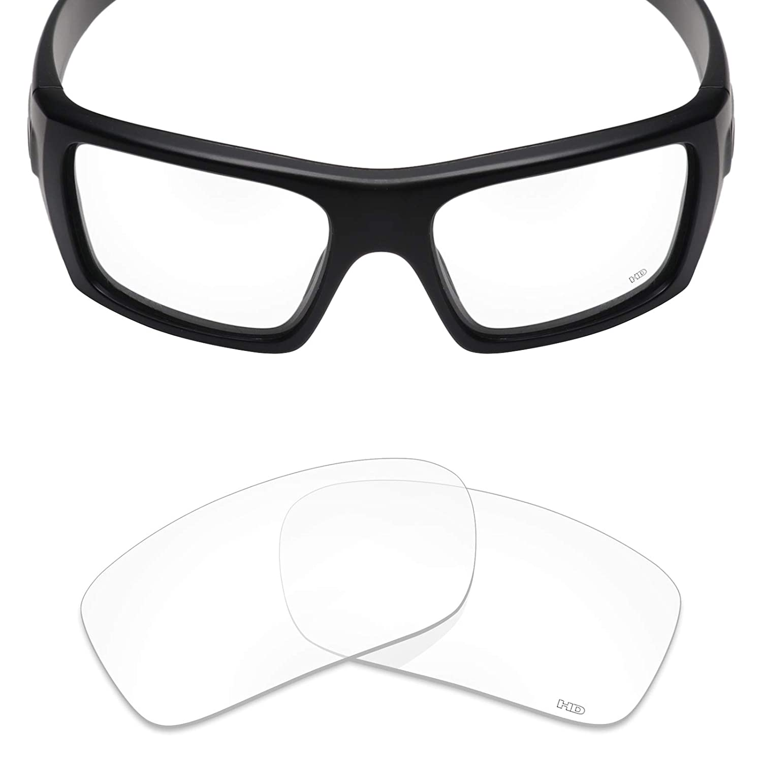 bbb5c97a0bc5a Amazon.com  Mryok+ Polarized Replacement Lenses for Oakley Si Ballistic Det  Cord - HD Clear  Clothing