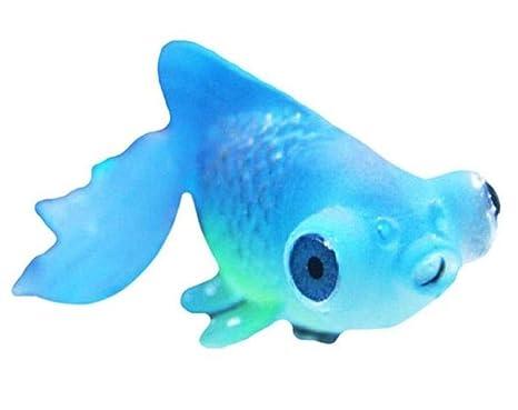 Blueqier Decoraciones de pecera Acuario Artificial Brillan en la Oscuridad Ornamento luminiscente del Goldfish para la decoración del Acuario (Azul) para ...