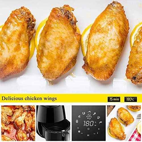 zyl Four à friteuse à air sans Huile de 52 L avec écran Tactile numérique friteuses à air Chaud avec Panier antiadhésif minuterie de 30 Minutes rôtir déshydrater Cuire au Four